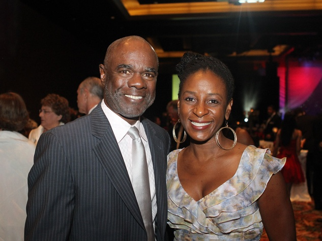 Ensemble Theatre gala, August 2012, Gleynn Turman, Ensemble Theatre Young Professionals Chair Pamela Ulmer