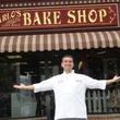 Buddy in front of Carlo's Bakery Cake Boss Bakery Boss