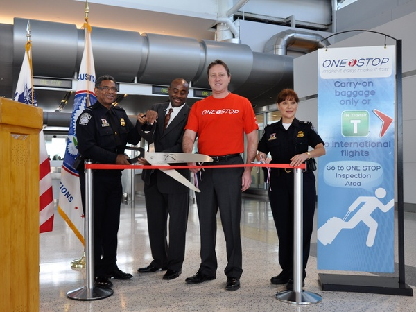 IAH fast lane, airport, OneStop launch, November 2012