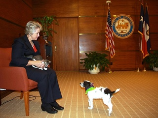 Mayor Annise Parker, Jax, adopted dog, BARC,  Neo, cat