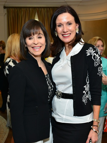 Sandra Porter, left, and Karen Love at the On the Move luncheon March 2014