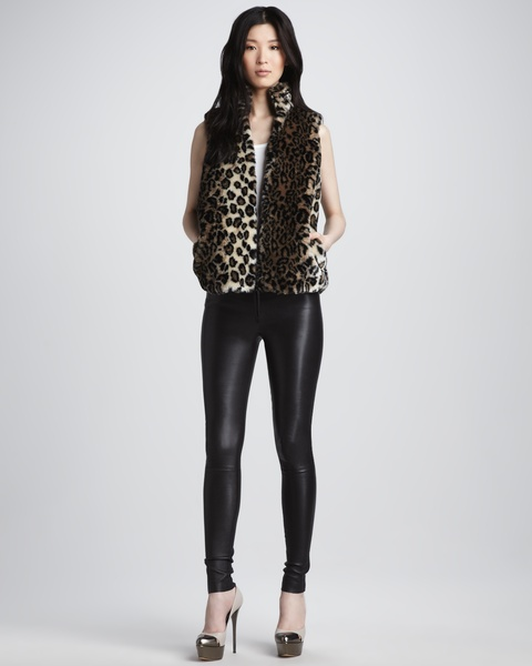 leather leggings, Alice + Olivia, August 2012
