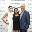 Duyen Nguyen, from left, Anais Nguyen and Marc Nguyen at the David Peck runway show September 2014