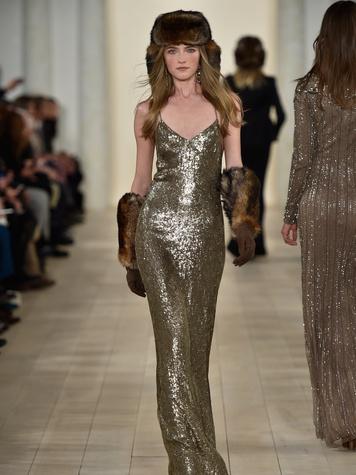 Clifford Fashion Week New York fall 2015 Ralph Lauren February 2015 Look 43