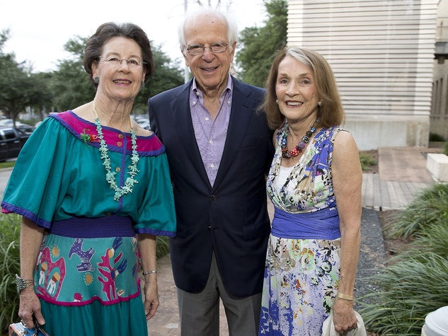 Glassell Benefit and Auction 2015 Nancy Powell Moore; Ron and Mickie Huebsch