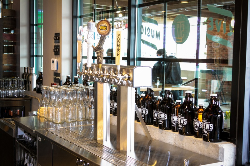 Beer taps at the H-E-B San Felipe and Table 57 Social February 2015