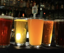 Beer light dark pints