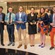 Ricky Johnson, Mariame Aana, Andyshea Saberioon, Dakota Carter, Kathleen Perley, Mohamad Maarouf at CultureMap Houston Social Top Texans