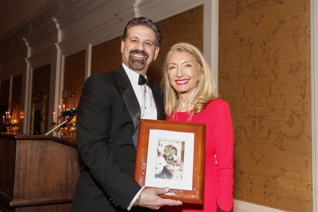 5 Drew Rogers and Marie LeNotre at the Gaston LeNotre Scholarship Gala February 2015