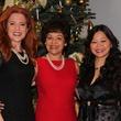 2 Ingrid Vanderveldt, from left, Marie Goradia and Chloe Dao at the Chloe Dao luncheon for Pratham December 2014