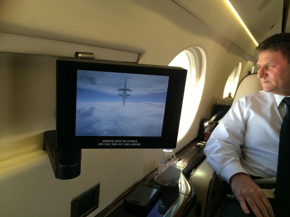 Tilman Fertitta interior jet in Biloxi Steve Scheinthal May 2014