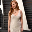 Jessica Chastain in H&M dress at Vanity Fair Oscar party