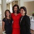 Mehrnaz Gill, from left, Betty Hrncir and Jaleh Sallee at the Huffington Center on Aging luncheon October 2014