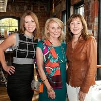 News, Shelby, Catwalk for a Cure kickoff, Oct. 2015, Allison Flikerski, Denise Monteleone, Elizabeth Stein