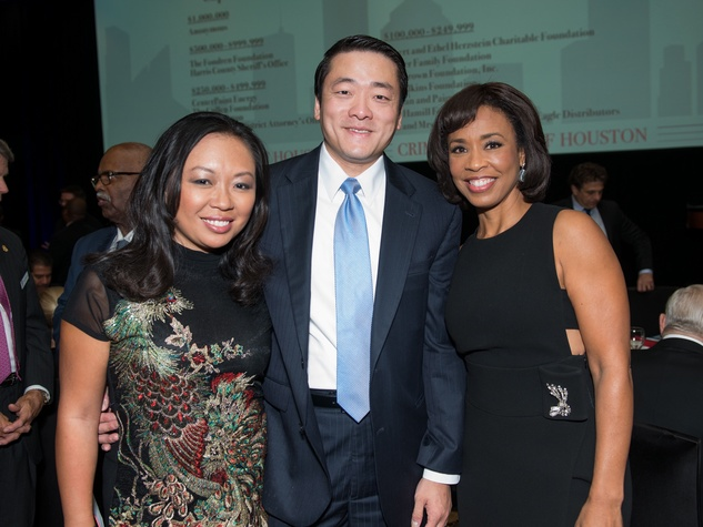 Crime Stoppers Gala Miya Shay and Gene Wu, Gina Gaston Ellie