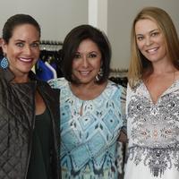 Mauney Mafrige, Debbie Festari, Megan Sutton-Reed at Hayward Trunk Show at Atrium
