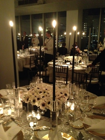 Setting at Todd Fiscus and Ceron's New York wedding