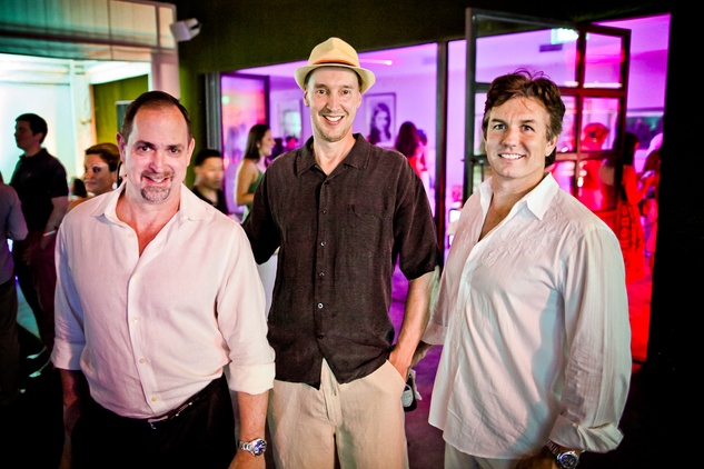 29 Mike Neugebauer, from left, Ken Sissingh and Jesse Blackwell at A Night in Havana July 2014
