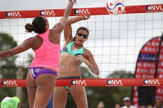 4 Jayme Lamm Jessica beach volleyball player October 2014