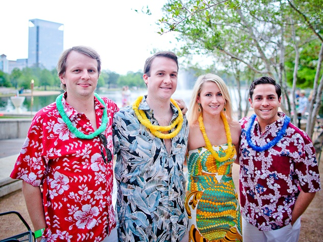 Urban Green's Hula in Hermann Park May 2013 Adam Curley, Michael Long, Alexis Long and Marc Eichenbaum