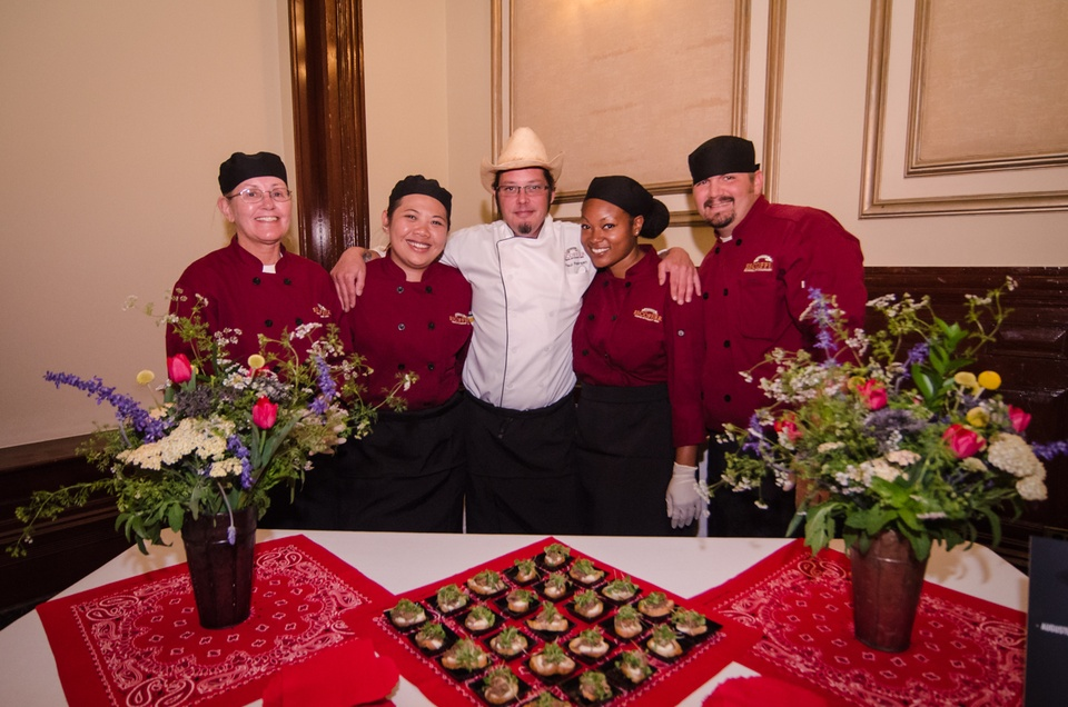 Linda Phelps, Sophie Saenchaiwong, Chef Paul Petersen, Antoinette Williams and Ted Williams, of the Escoffier School
