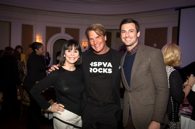 17 Sandra Porter, from left, George Lancaster and Josh Bell at the HSPVA 9th Annual Encore for Excellence luncheon February 2015