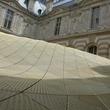 Louvre Paris tour July 2013 mesh roof