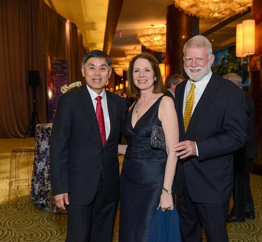 Dr. Benjamin Chu, Deborah Cannon, Gardner Cannon at UTHealth Constellation Gala