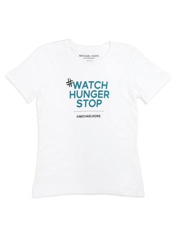 Michael Kors Watch Hunger Stop World Hunger campaign T-shirt October 2013 THIS VERTICAL