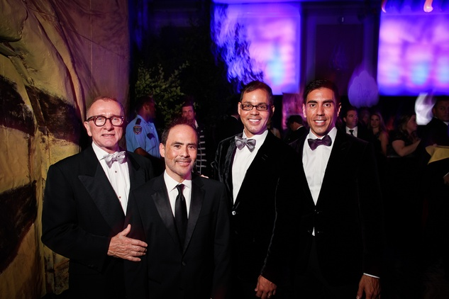 Larry Hokanson, from left, Michael Siller, Jose Marquez and Christian Alvarado at DREAMSCAPE The Orange Show's 32nd Annual Gala November 2013