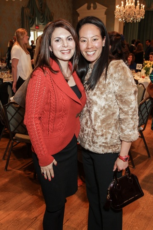Kathy Mann, left, and Ting Bresnahan at the Breakthrough Houston luncheon February 2015