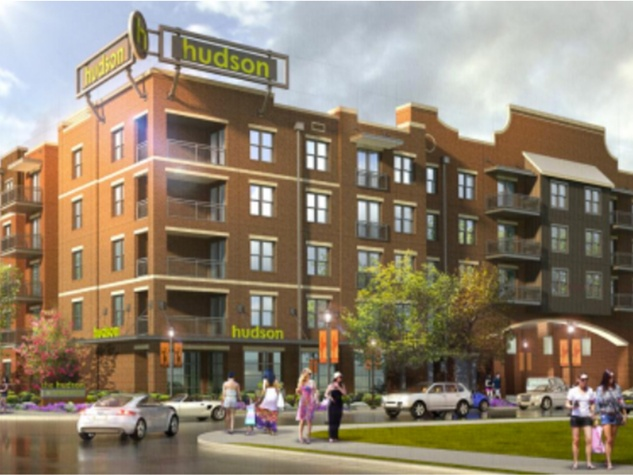 ZOM Hudson apartment building complex rendering January 2014
