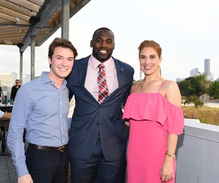 Will Finnorn, Whitney Mercilus, Alexa Bode at Barbara Bush Foundation Gala kickoff
