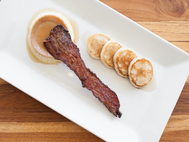 Table Pancake and Bacon Dessert