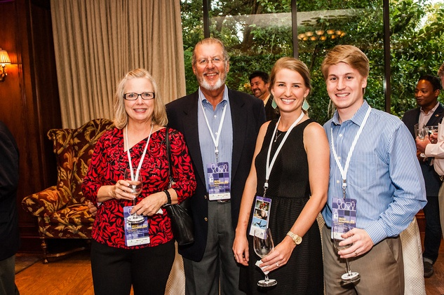 5 Pam and Johnnie Domingue, from left, and Jennifer and Steven Williams at The Periwinkle Foundation's Iron Sommelier October 2014