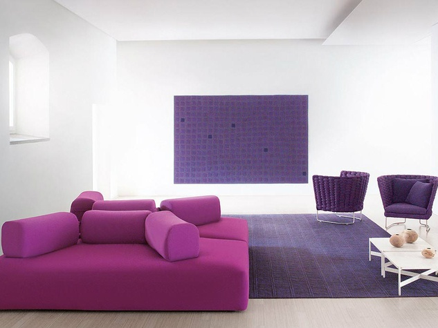 Purple Fendi furniture