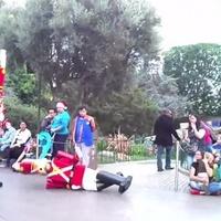 Disney Characters falling down