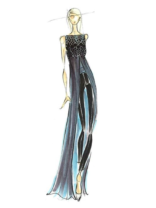 Fashion Week spring summer 2013 Pamella Roland sketch