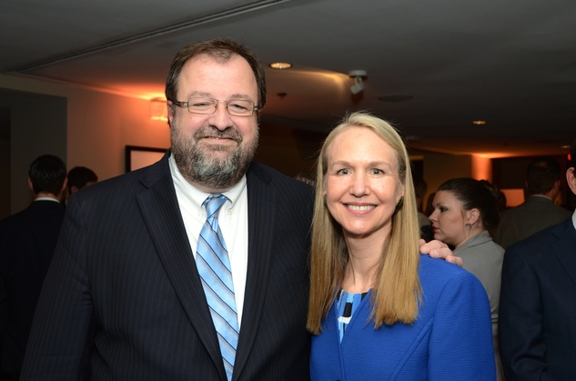 Dr. Bob Sanborn and Dr. Cathy Flaitz at the Children at Risk luncheon October 2014