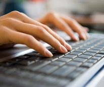online class, keyboard, computer