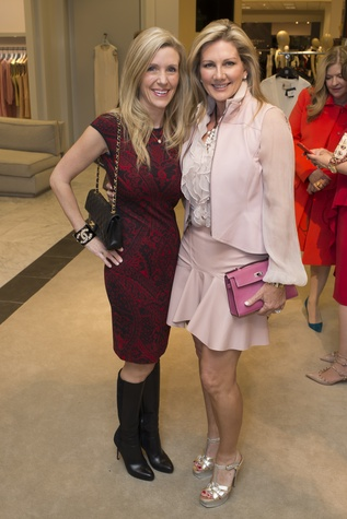 57 NAME, left, and Anne Carl at Houston Sweethearts at Saks February 2015