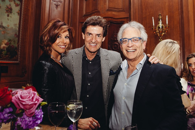 16 Dominique Sachse, from left, Nick Florescu and Mickey Rosmarin at Rosemarie Johnson's birthday party April 2014
