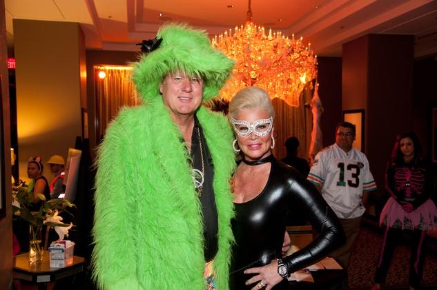 5 Dr. Lamar and Theresa Roemer at the Bone Bash Halloween party October 2013