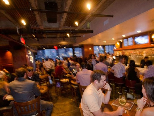 3rd Floor bar Houston interior with crowd