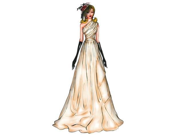 Binzario Couture evening gown