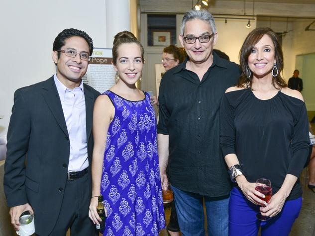 120 Matt and Pamela Merhan, from left, and David and Myrna Engler at the Children's Assessment Center Art Party November 2013