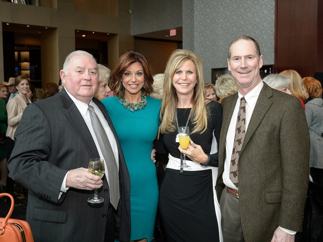Red Griffin, from left, Dominique Sachse, Amy Miller and Ted Gaylord at the Trailblazer Awards Luncheon February 2014