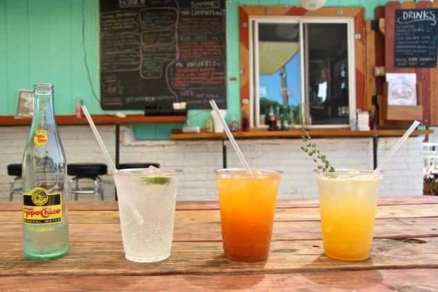 Housemade sodas at Con'Olio in Austin