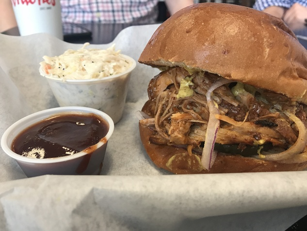 Antone's pulled pork sandwich