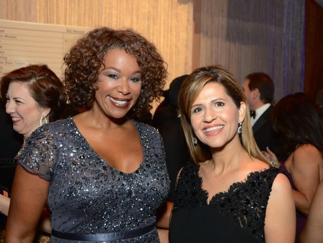 33 Deborah Duncan, left, and Mehrnac Gill at the UNICEF Gala October 2014
